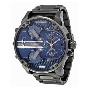 Diesel Big Daddy DZ7331 316L gunmetal stainless steel 30m water-resistant 4 Time zones