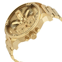Diesel Big Daddy DZ7399 Gold Stainless Steel 4 Time Zones 30m Water Resistant