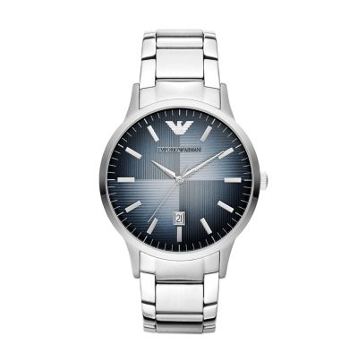 Emporio Armani Renato Quartz Blue Dial Men's Watch