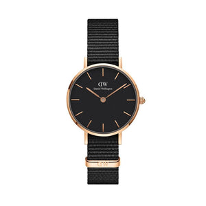 Daniel Wellington Black Classic Petite Cornwall 28mm Women's Gold Watch DW00100247 - Big Daddy Watches