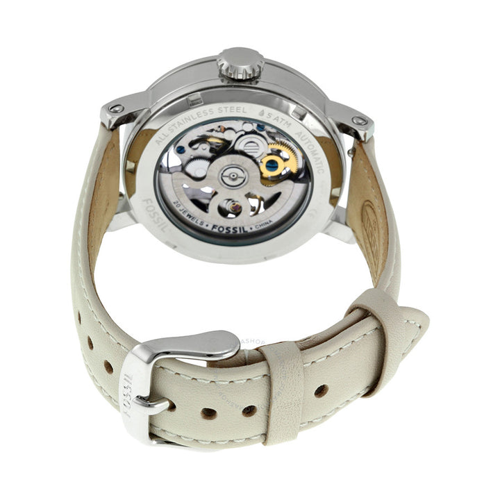 Fossil Boyfriend Automatic Skeleton Dial Ladies Watch ME3069