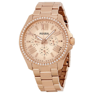 Fossil Cecile Multifunction Rose Dial Stainless Steel Watch AM4483