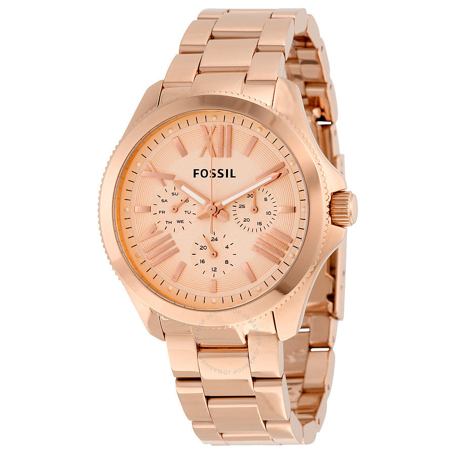 Fossil Cecile Rose Gold-tone Dial Ladies Watch AM4511