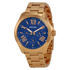 Fossil Ceclie Multifunction Blue Dial Ladies Watch AM4566