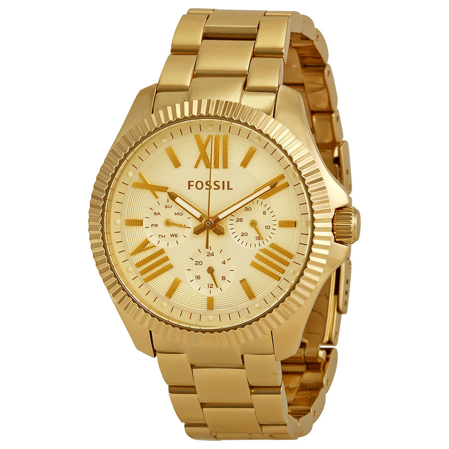 Fossil Ceclie Multifunction Champagne Dial Watch AM4570