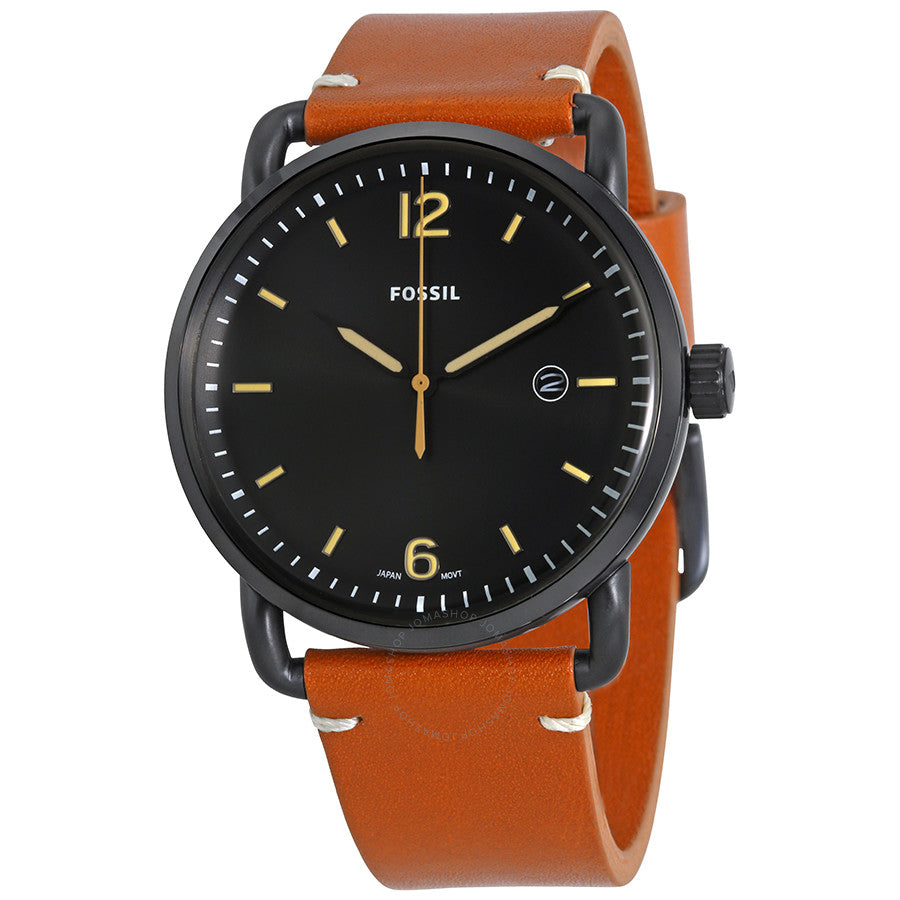 Fossil Commuter Black Dial Brown Leather Men's Watch FS5276