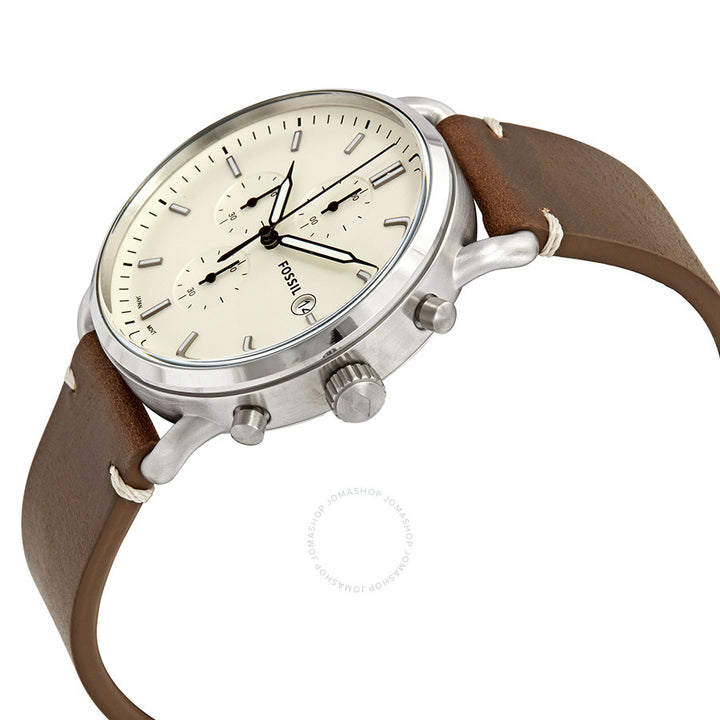 Fossil Commuter Chronograph Cream Dial Men's Watch FS5402