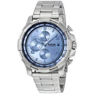 Fossil Dean Chronograph Silver Dial Men's Watch FS5155