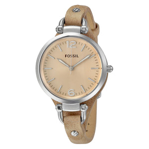Fossil Georgia Beige Dial Sand Tan Leather Strap Ladies Watch ES2830
