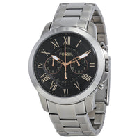 Fossil Grant Chronograph Black Dial Stainless Steel Men's Watch FS4994
