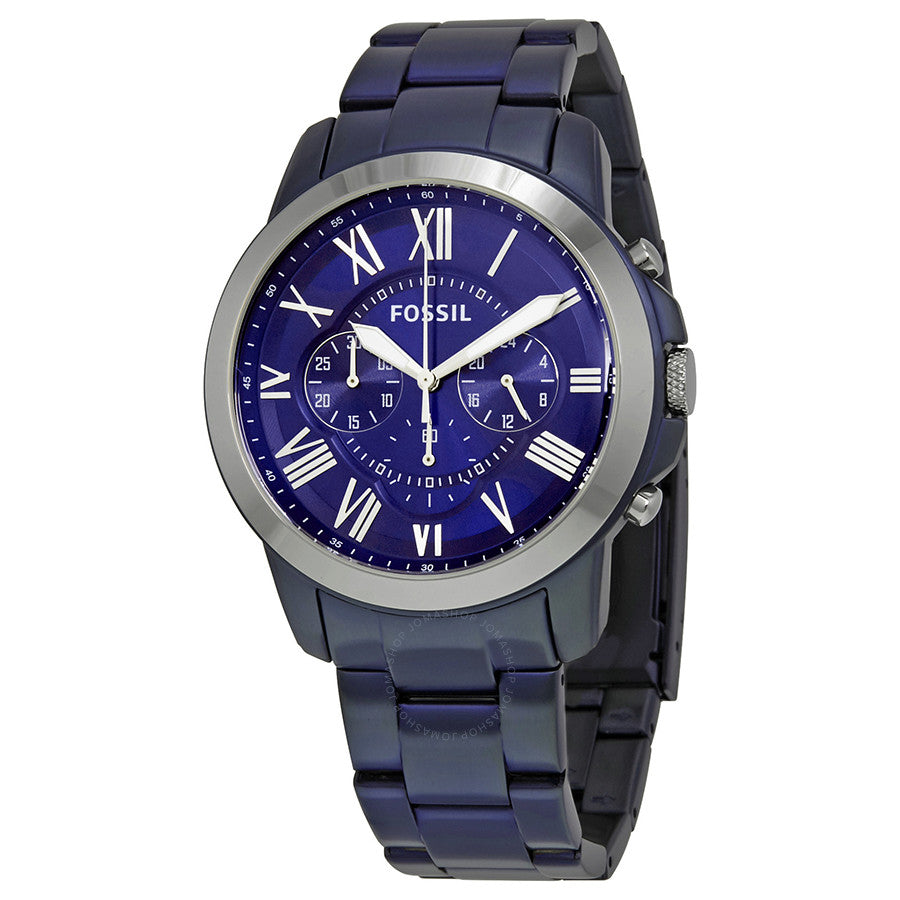 Fossil Grant Chronograph Blue Dial Men's Watch FS5230