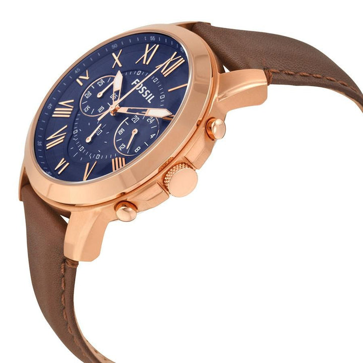 Fossil Grant Chronograph Blue Dial Men's Watch FS5068