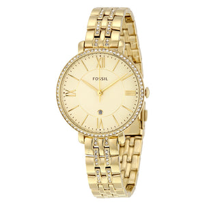 Fossil Jacqueline Champagne Dial Gold-tone Ladies Watch ES3547