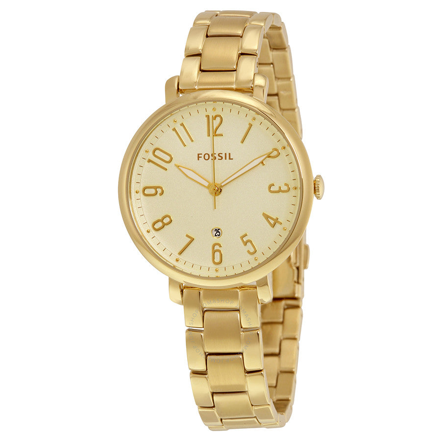 Fossil Jacqueline Gold Tone Dial Ladies Steel Watch ES3971