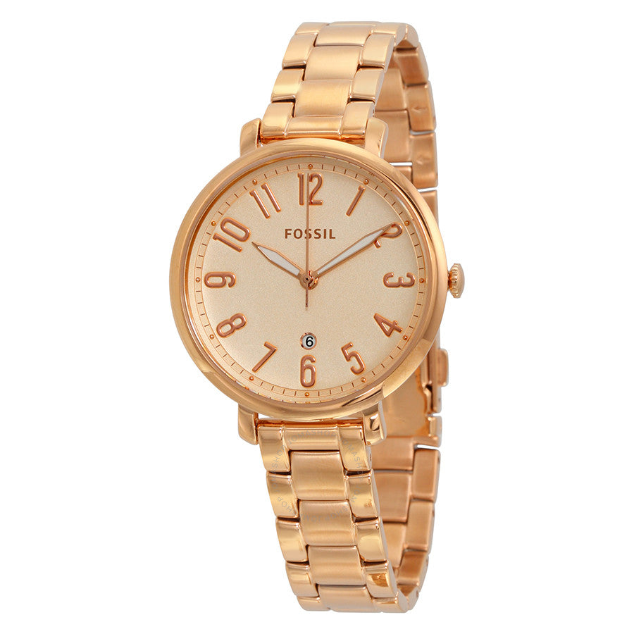 Fossil Jacqueline Rose Gold Dial Ladies Casual Watch ES3970