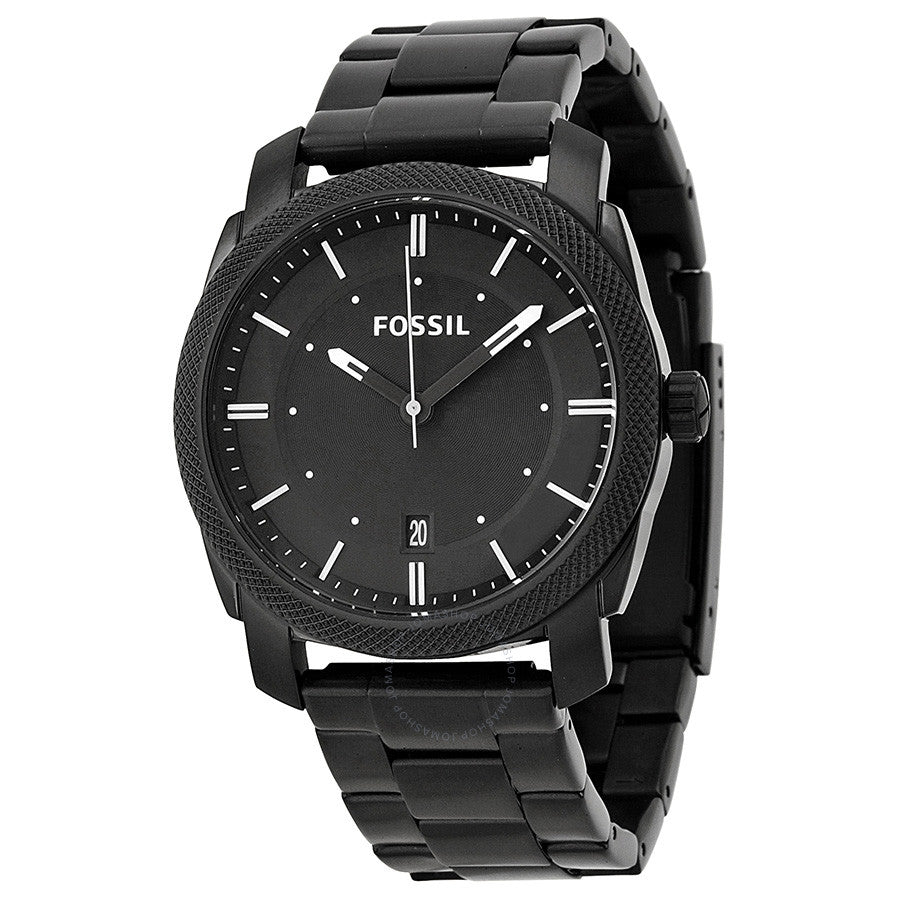 Fossil Machine Black Dial Stainless Steel Men's Watch FS4775