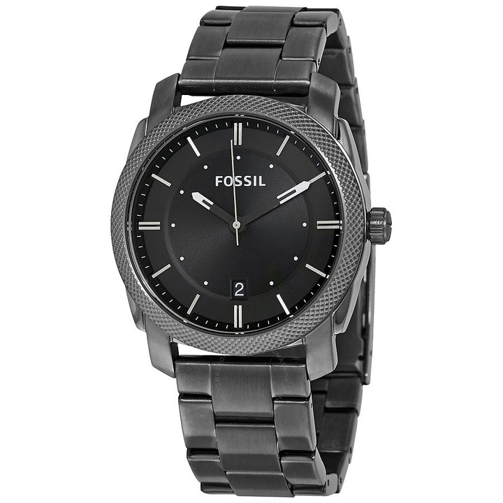 Fossil Machine Black Dial Smoke IP Stainless Steel Men's Watch FS4774