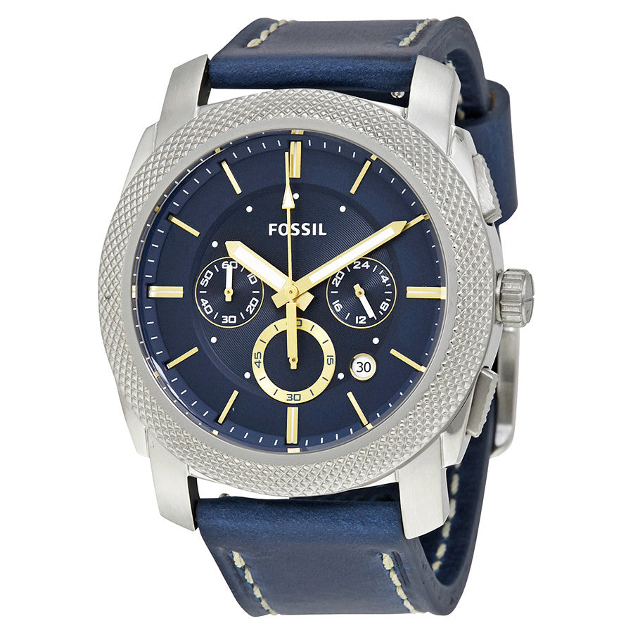 Fossil Machine Chronograph Blue Dial Men's Watch FS5262