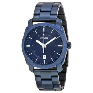 Fossil Machine Blue Dial Stainless Steel Men's Watch FS5231