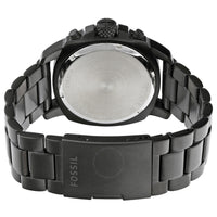 Fossil Machine Chronograph Black Dial Ion-plated Men's Watch FS4927