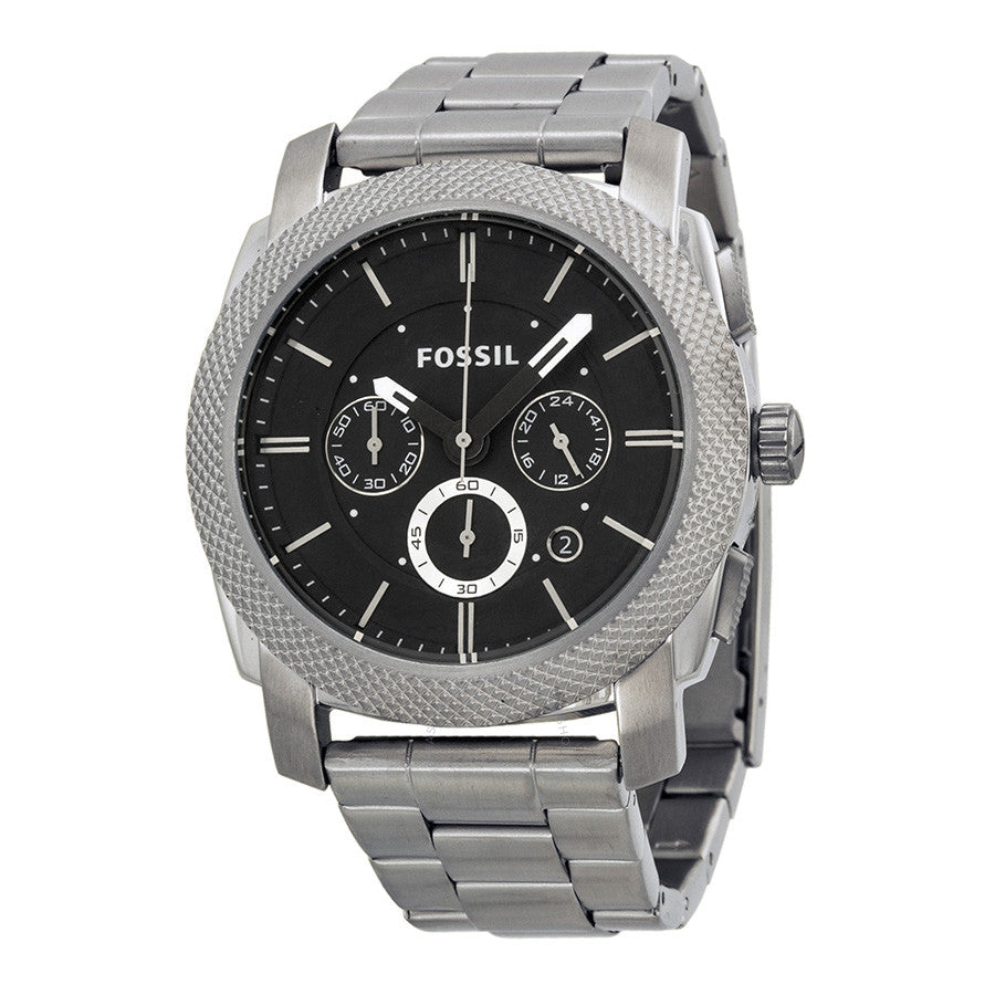 Fossil Machine Chronograph Black Dial Stainless Steel Men's Watch FS4776