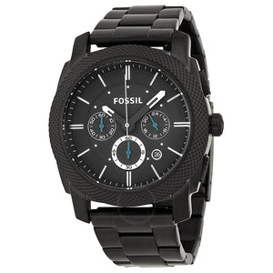 Fossil Machine Chronograph Dial Black Ion-plated Men's Watch FS4552