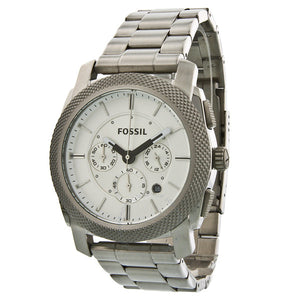 Fossil Machine Chronograph White Dial Stainless Steel Men's Watch FS4663