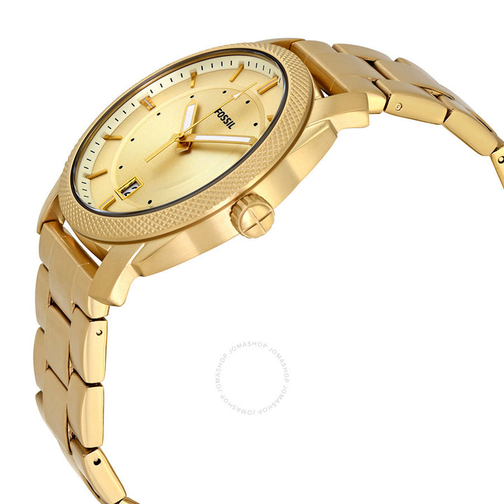 Fossil Machine Gold Dial Yellow Gold-tone Men's Watch FS5264