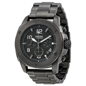 Fossil Machine Chronograph Grey Dial Smoke Ion-plated Men's Watch FS5017