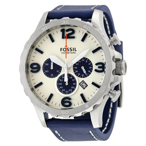 Fossil Nate Chronograph Beige Dial Men's Watch JR1480