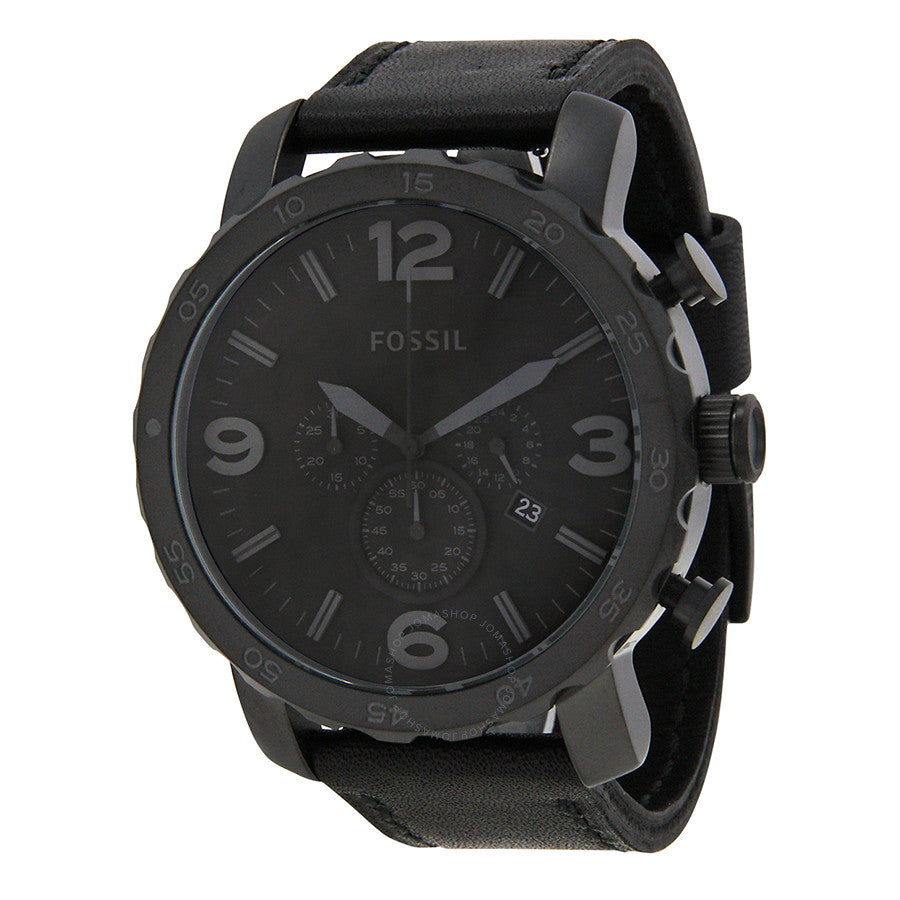 Fossil Nate Chronograph Black Dial Men's Watch JR1354