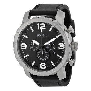 Fossil Nate Chronograph Black Dial Men's Watch JR1436