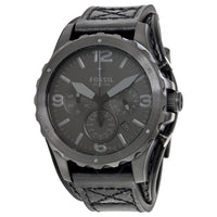 Fossil Nate Chronograph Black Dial Men's Watch JR1510