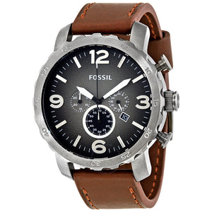 Fossil Nate Chronograph Grey Dial Men's Watch JR1424