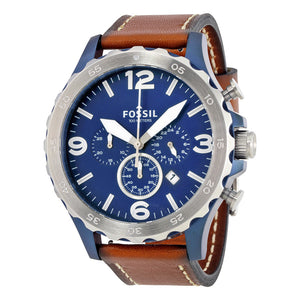Fossil Nate Navy Blue Dial Men's Chronograph Watch JR1504