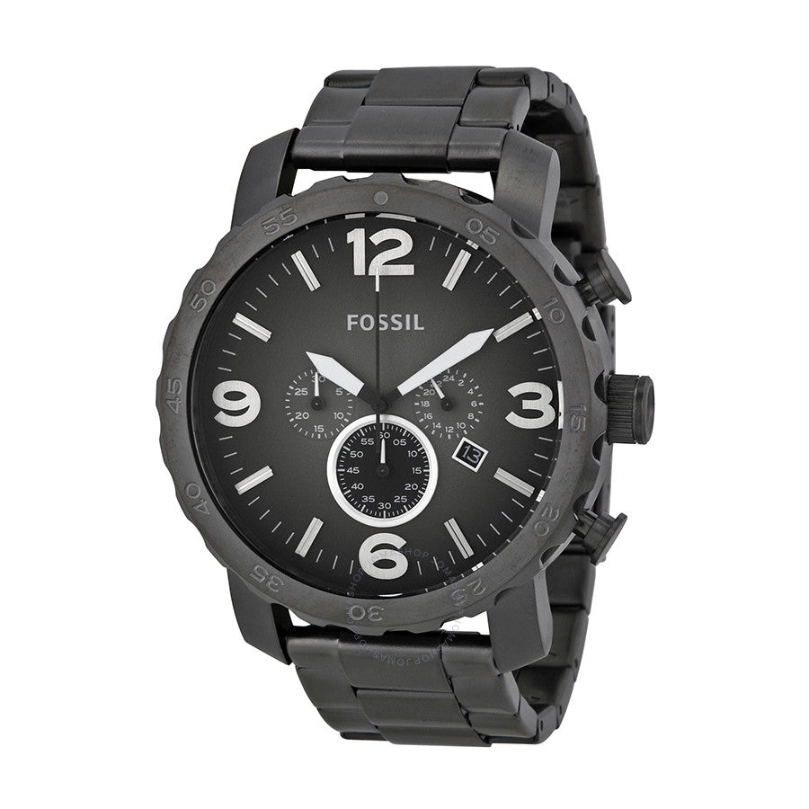Fossil Nate Chronograph Smoke Grey Dial Men's Watch JR1437
