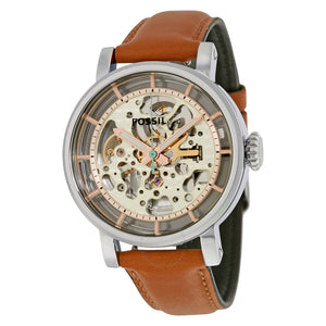 Fossil Original Boyfriend Automatic Skeleton Dial Ladies Watch ME3109