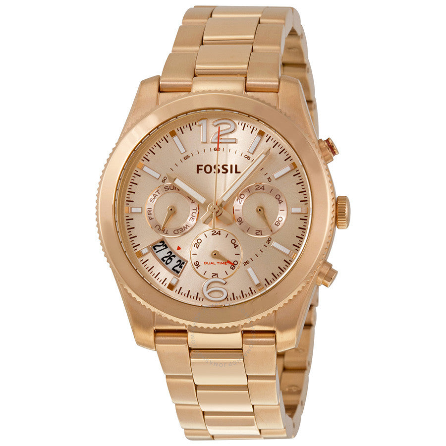 Fossil Perfect Boyfriend Multifunction Rose Dial Ladies Watch ES3885
