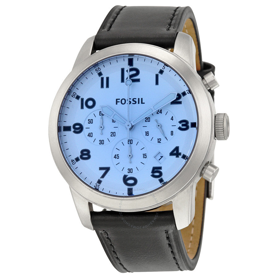 Fossil Pilot 54 Chronograph Silver Dial Men's Watch FS5162