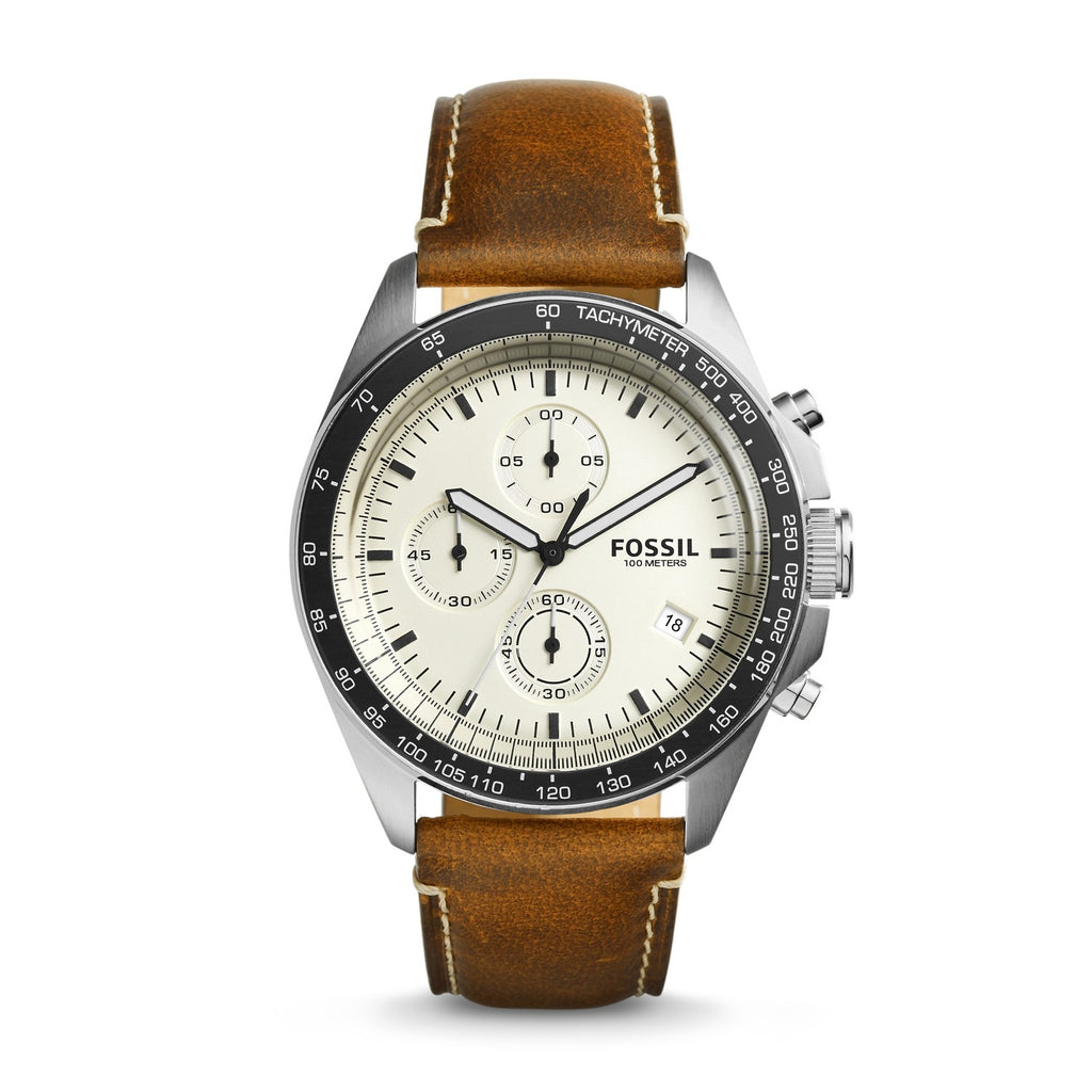 Fossil Sport 54 Chronograph Beige Dial Men's Watch CH3023