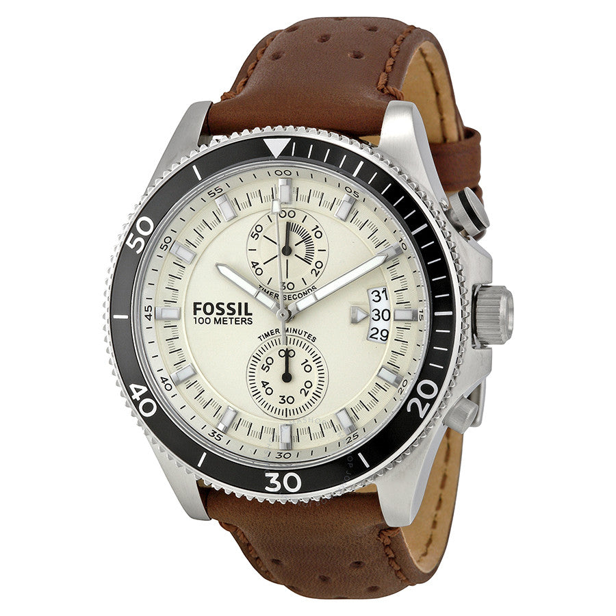 Fossil Wakefield Chronograph Eggshell Dial Men's Watch CH2943