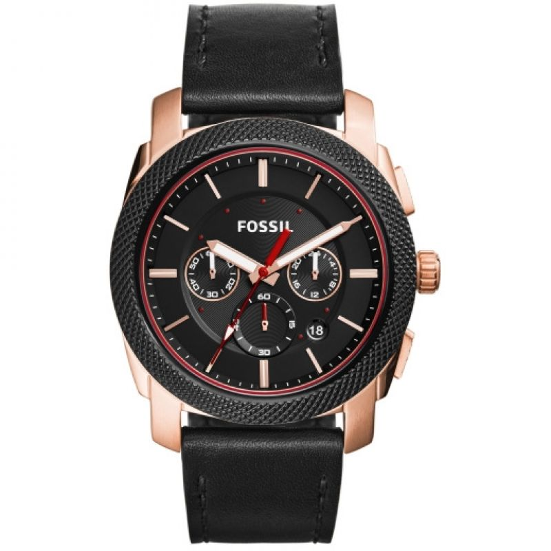Fossil Machine Chronograph Black Dial Men's Watch FS5120