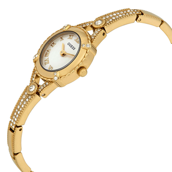 Guess Angelic Champagne Dial Gold Tone Ladies Watch W0135L2