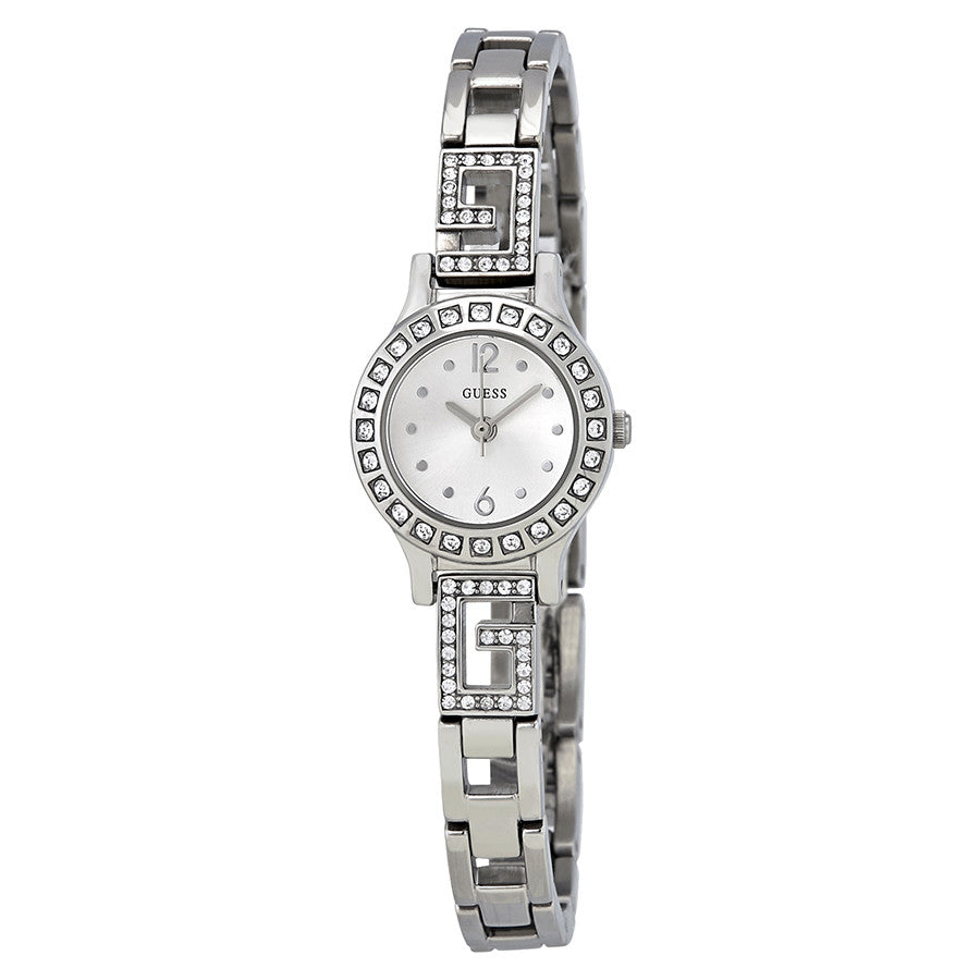 Guess Darling Silver Dial Stainless Steel Ladies Watch W0411L1