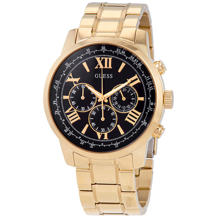 Guess Horizon Chronograph Black Dial Men's Watch W0379G4