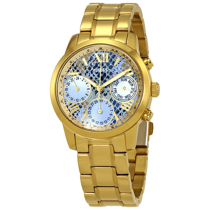 Guess Mini Sunrise Multi-Function Blue Dial Ladies Watch W0448L6