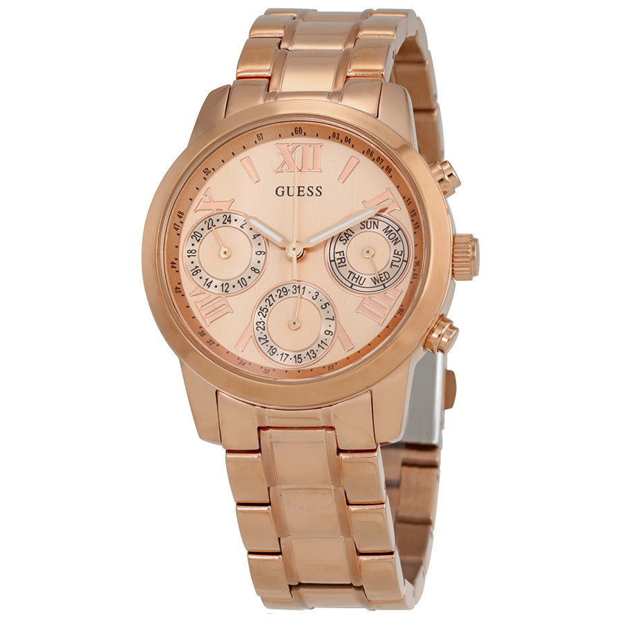 Guess Mini Sunrise Multi-Function Rose Dial Ladies Watch W0448L3
