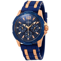 Guess Oasis Blue Dial Two-Tone Men's Watch W0366G4