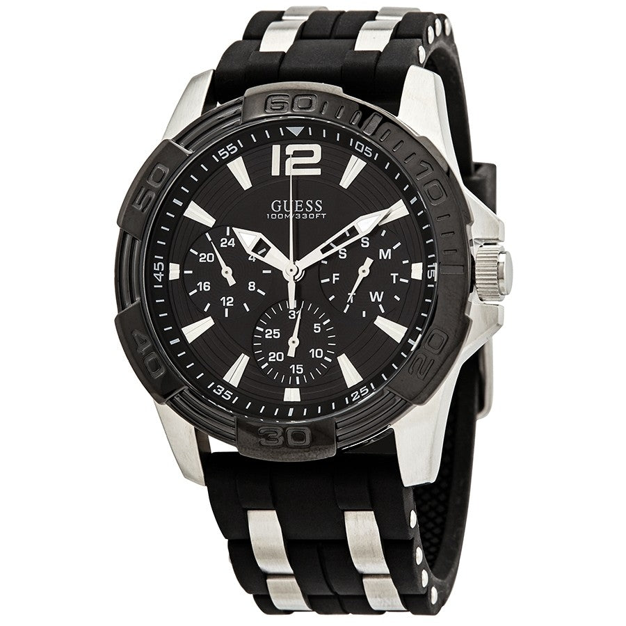 Guess Oasis Multi-Function Black Dial Men's Watch W0366G1