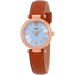 Guess Park Ave South Crystal Blue Dial Ladies Watch W0838L2